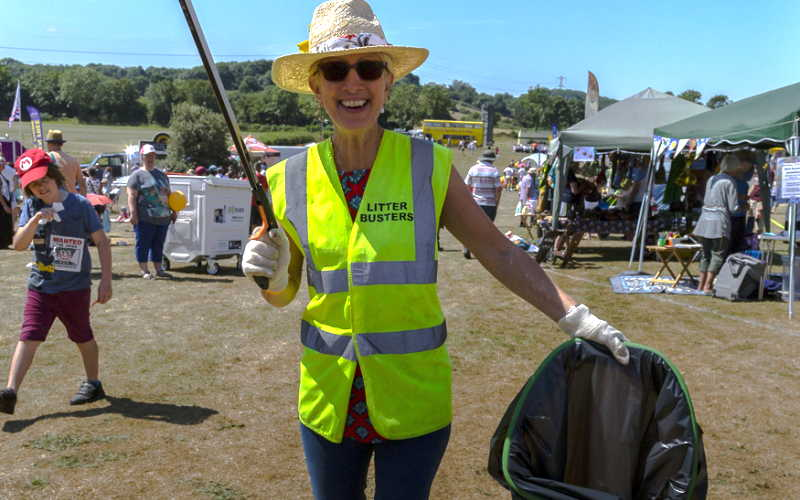 Happy volunteer at the Thornbury Carnival